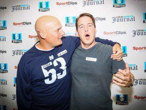 Mona Shores head coach Matt Koziak and Tom Kendra. Photo/Tim Reilly