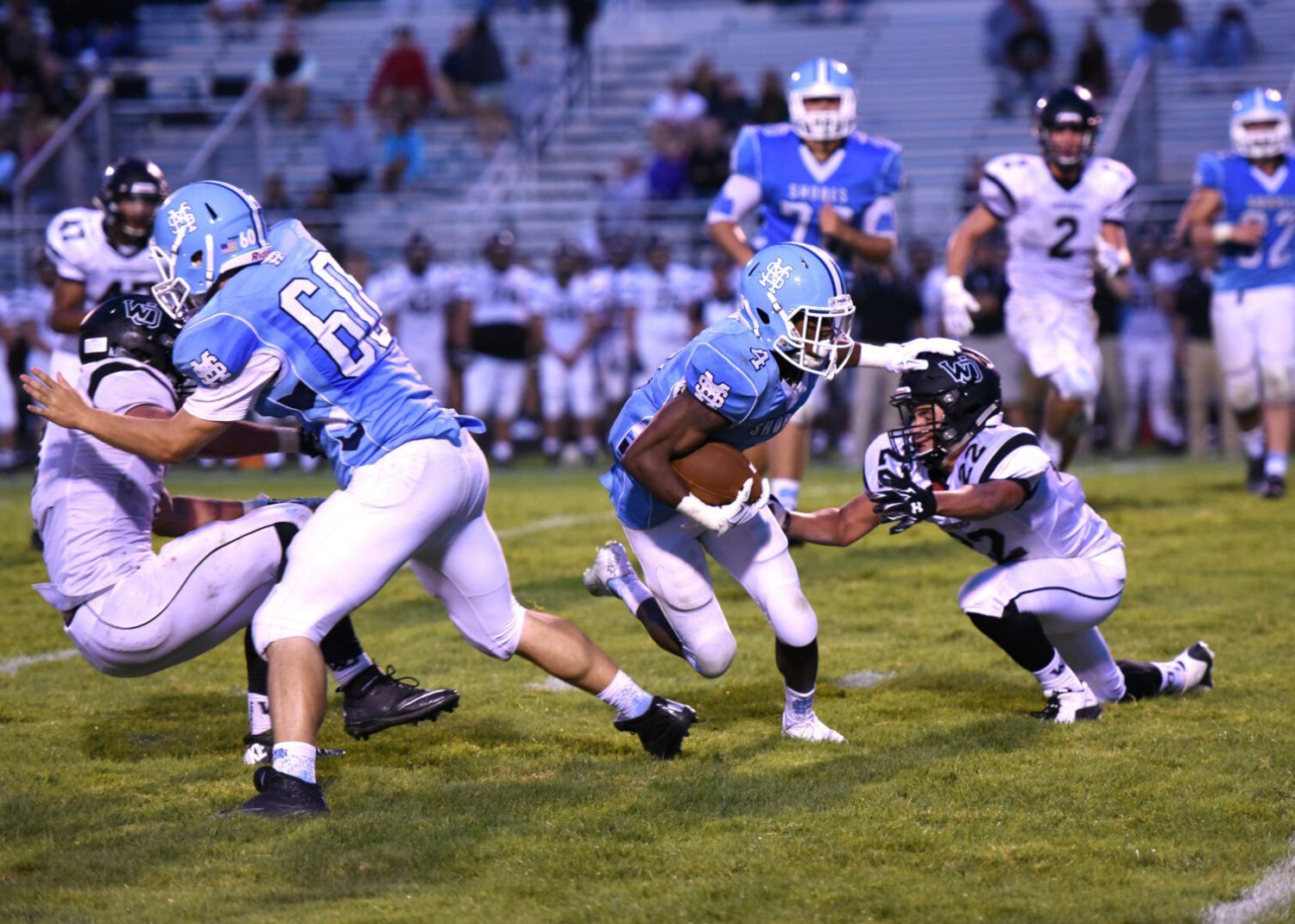 Trovinger, Mona Shores open the season with a bang, downing West Ottawa 55-0