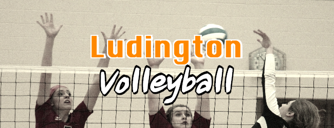 Ludington claims a straight set win over Orchard View in volleyball