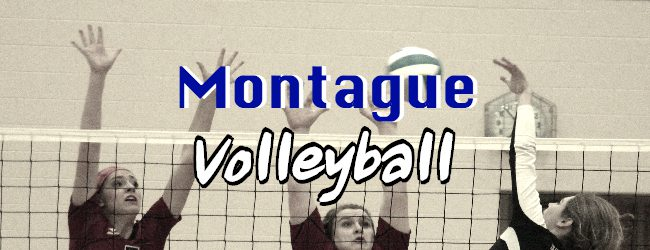 Montague volleyball team wins all three matches in a quad