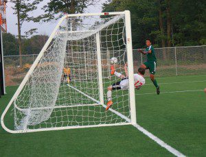 Dylan Constantine makes the incredible save for Spring Lake. Photo/Scott Stone