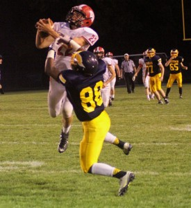 Whitehall's Nolan Throne comes down with the catch. Photo/Scott Stone