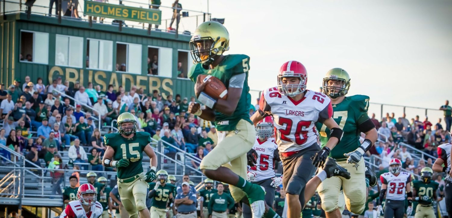 Muskegon Catholic rolls over Spring Lake in Lakes 8 Conference football game