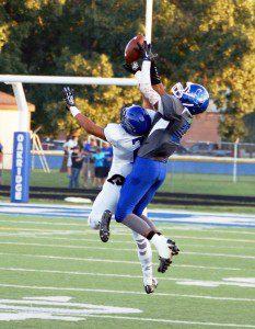 James Cooper goes up for the catch for Oakridge. Photo/Sherry Wahr