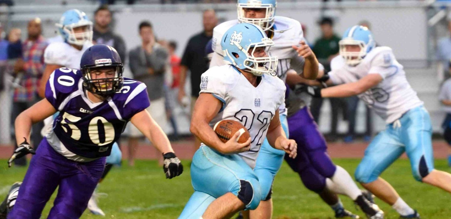 Mona Shores loses Trovinger to an ankle injury, but still blasts Caledonia 30-7 to remain unbeaten
