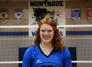 Montague volleyball standout Emma Flagstead. Photo/Jason Goorman