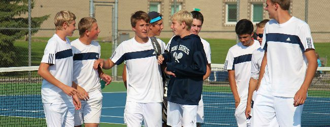 Gossett's thrilling victory gives Mona Shores the title by one point in the GMAA city tennis tournament