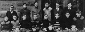 The 1904 Muskegon football team - the first undefeated squad in school history.