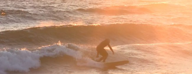 Sun Sets: Lake Michigan waves find their way to North Muskegon [VIDEO]