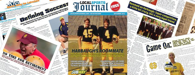 Local Sports Journal The Magazine, September edition: MCC's Mike Reinhold recalls Michigan days with Harbaugh