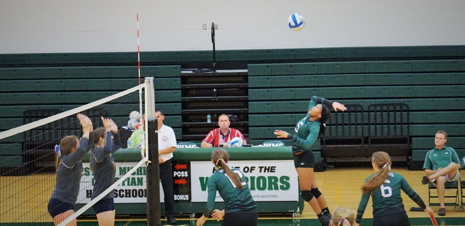 Western Michigan Christian finally finishes strong, downing North Muskegon in volleyball in straight sets