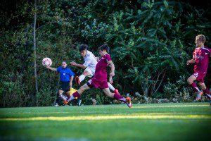 Jose Zambrano takes a shot on goal for MCC. Photo/Tim Reilly