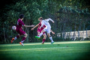 MCC #14 Nate Sullivan delivers the game winning goal photo/Tim Reilly