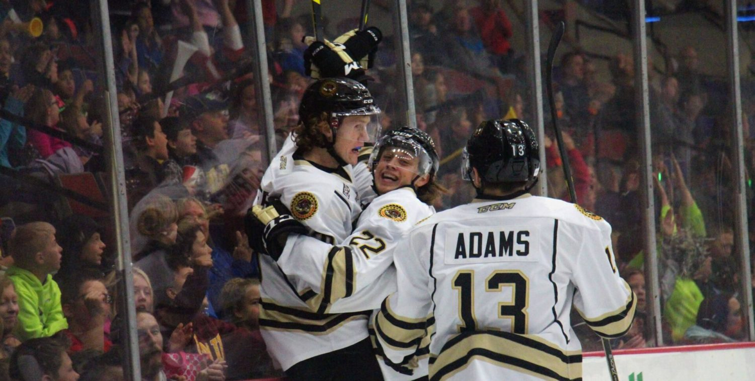 Lumberjacks snap four-game losing streak with a 4-2 victory over Chicago in their annual morning game