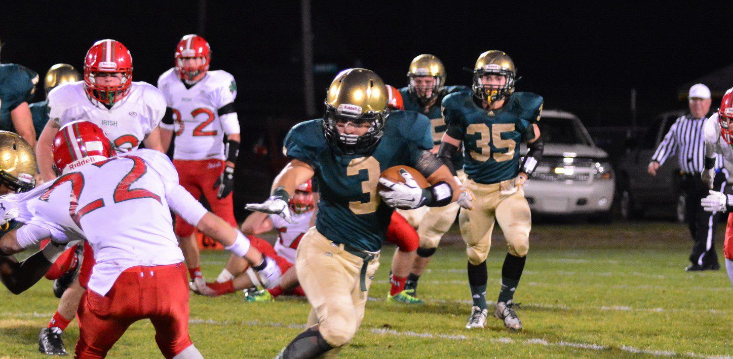 Nate Jones gets two early pick-sixes, sending MCC on its way to a 49-7 victory over Mt. Pleasant Sacred Heart