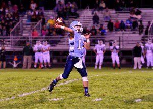 Elijah Wilson lets loose a long touchdown pass.  Photo/Eric Sturr
