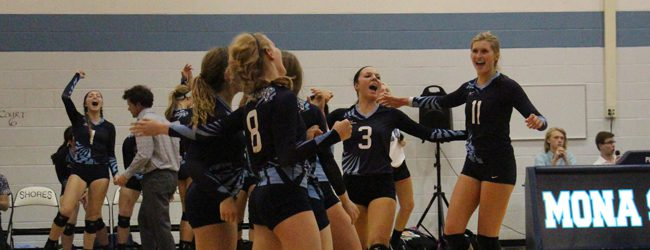 Mona Shores gets back in the O-K Black volleyball championship hunt with a key victory over Zeeland East