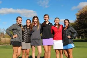 Members of the Spring Lake golf team Madelyn Nelson, Kayla Krueger, Emma Conroy, Hannah Klein, Jaedyn Shelton and Anna Kramer. Photo/Jason Goorman