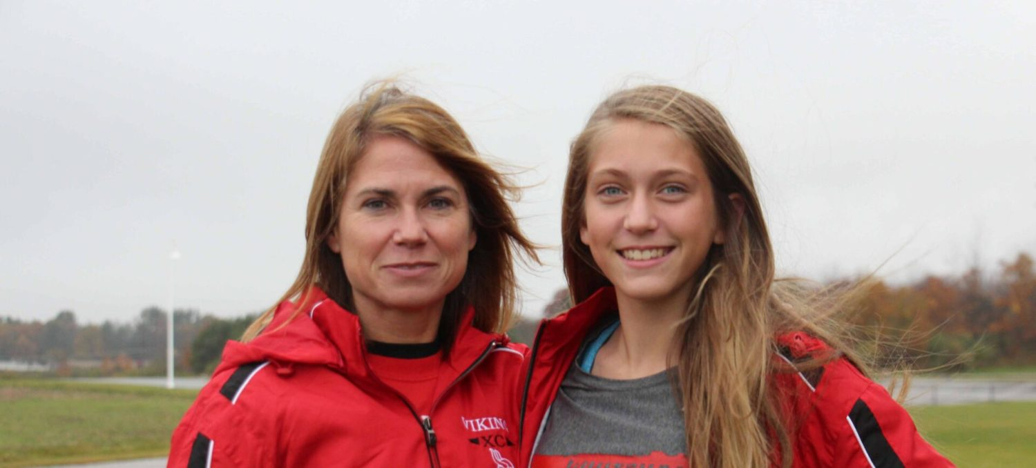 Coach Kathy Hector is thrilled to watch her daughter, Maya Hector, lead Whitehall into cross country regionals