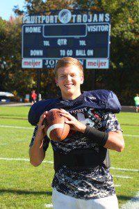 Fruitport's multi-skilled senior quarterback Jarod Wierengo. Photo/Jason Goorman.