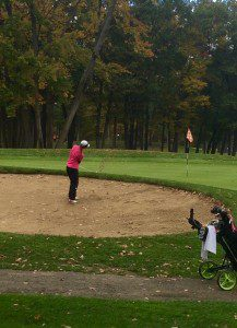 VanDuinen chips out of the trap during state final action.