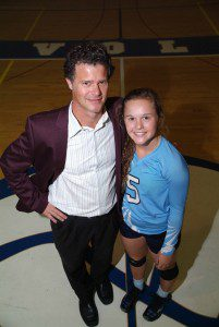 Mona Shores volleyball coach Dan Potts and his daughter, standout senior Kennedy Potts. Photo/Jason Goorman