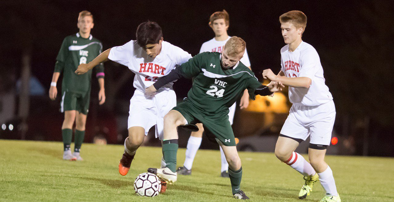 Western Michigan Christian begins district soccer tournament with a 5-0 blanking of Hart