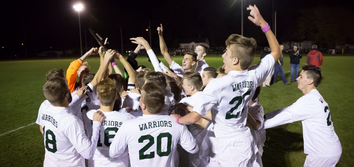 Western Michigan Christian soccer team repeats as Division 4 district champs with a 5-0 win over Muskegon Catholic