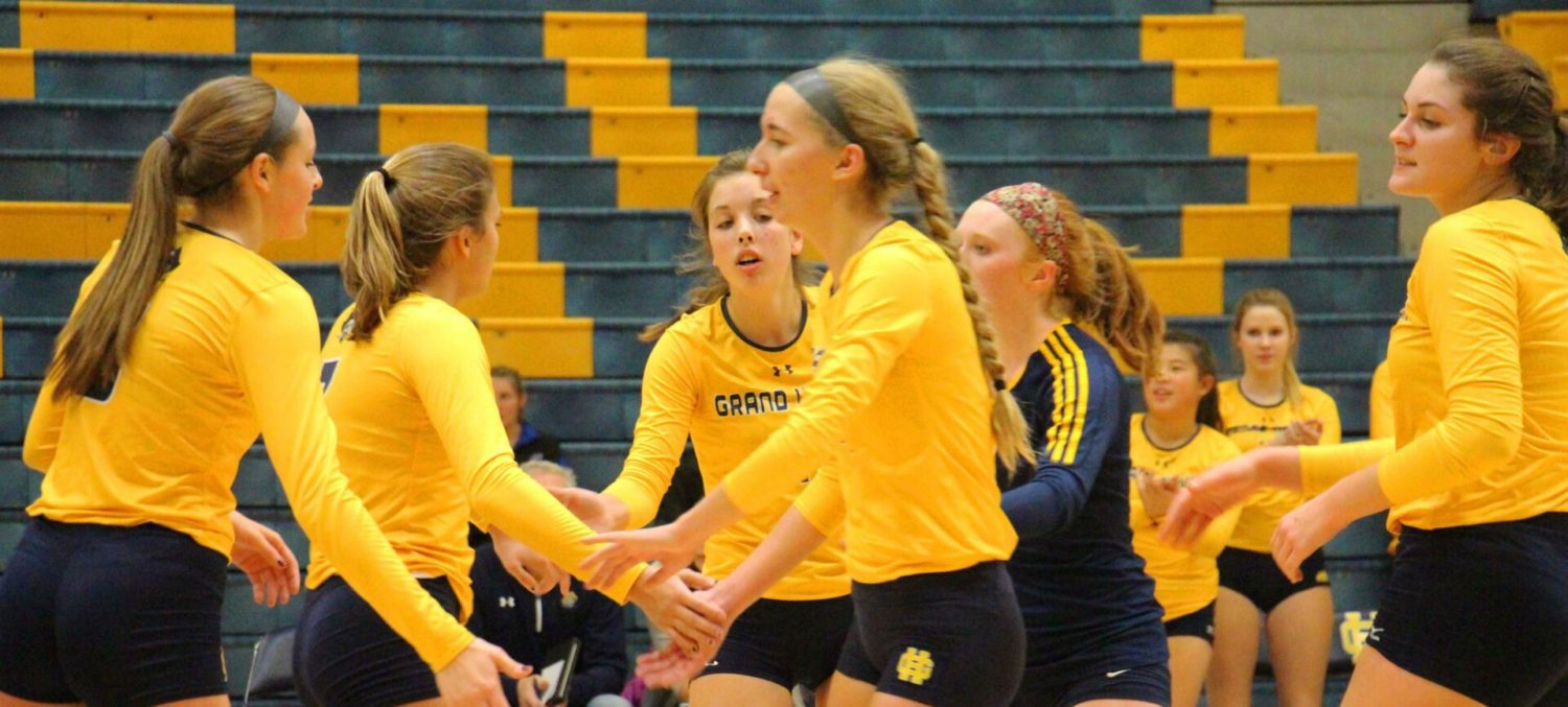 Grand Haven adds another Class A district volleyball trophy to its collection, readies for another state run