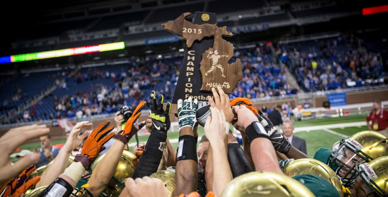Photo gallery from Muskegon Catholic's third straight football state championship