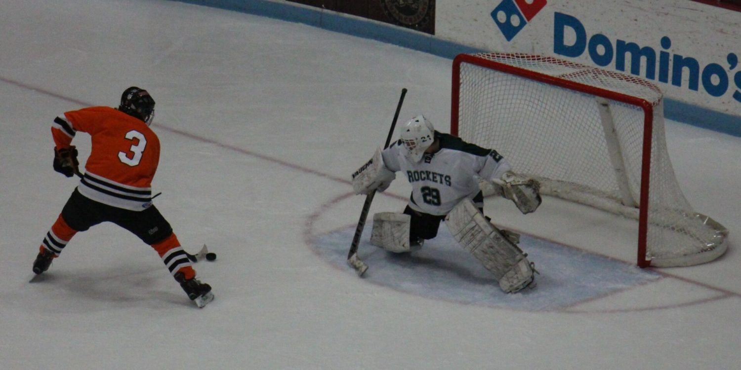 Young Reeths-Puffer hockey team begins a challenging week with an 8-2 loss to Northville