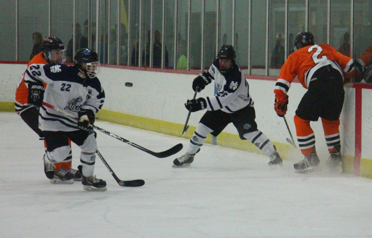 Northville High School hockey team completes a weekend sweep in Muskegon with a 5-3 win over Mona Shores