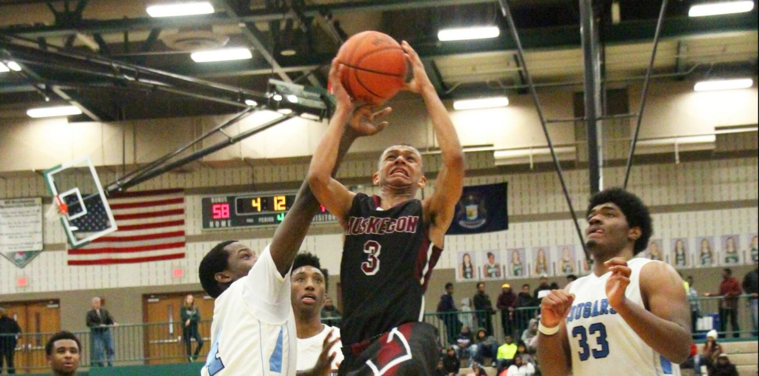 Muskegon fights off Detroit Consortium at Hall of Fame Classic, set to face unbeaten East Kentwood on Wednesday