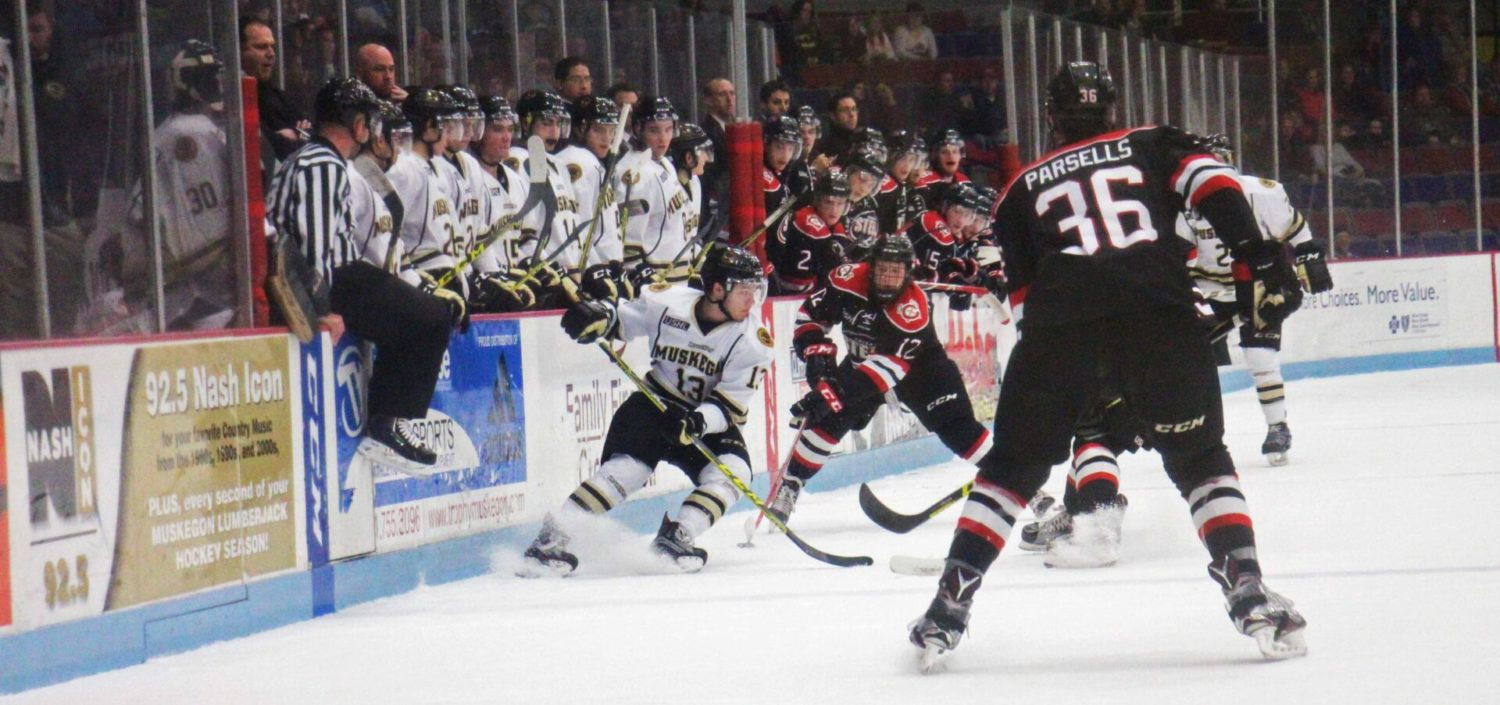Lumberjacks fall 8-4 to Chicago in New Year's Eve contest
