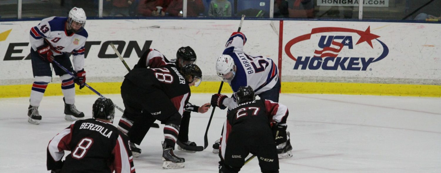 Lumberjacks blow a pair of three-goal leads, lose to the Team USA Under-17 squad 7-4