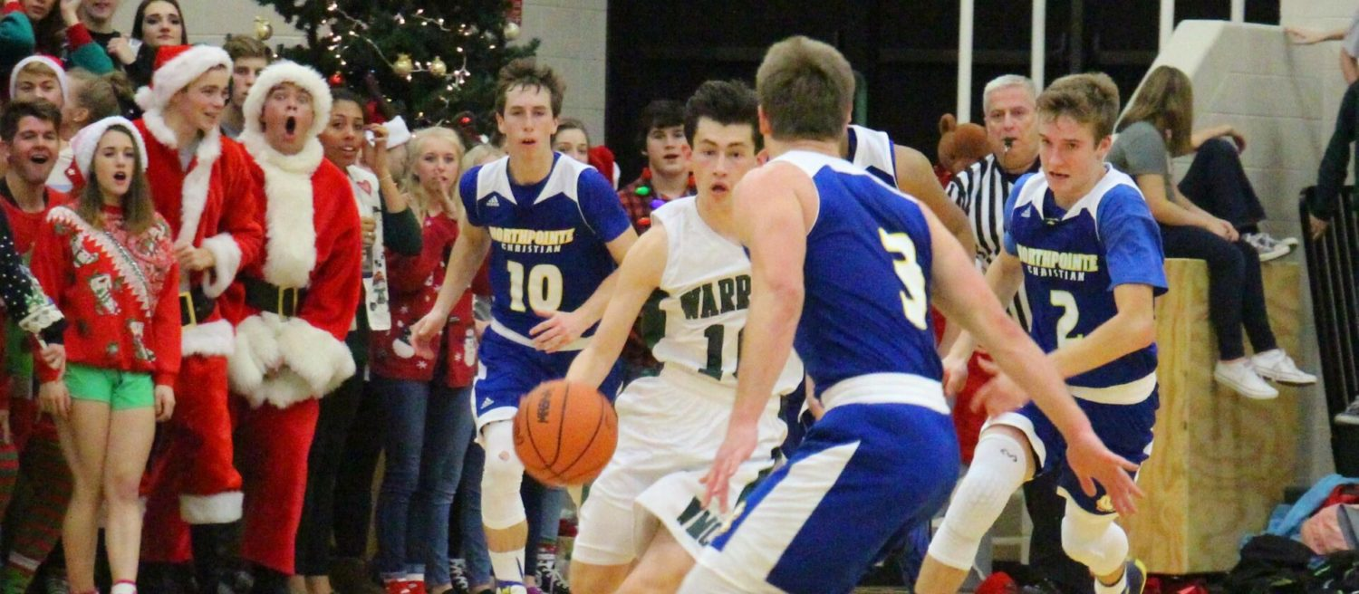 """Western Michigan Christian boys race past NorthPointe Christian 56-46 on """"Silent Night"""" [VIDEO]"""