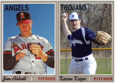 Kriger Abbott baseball card