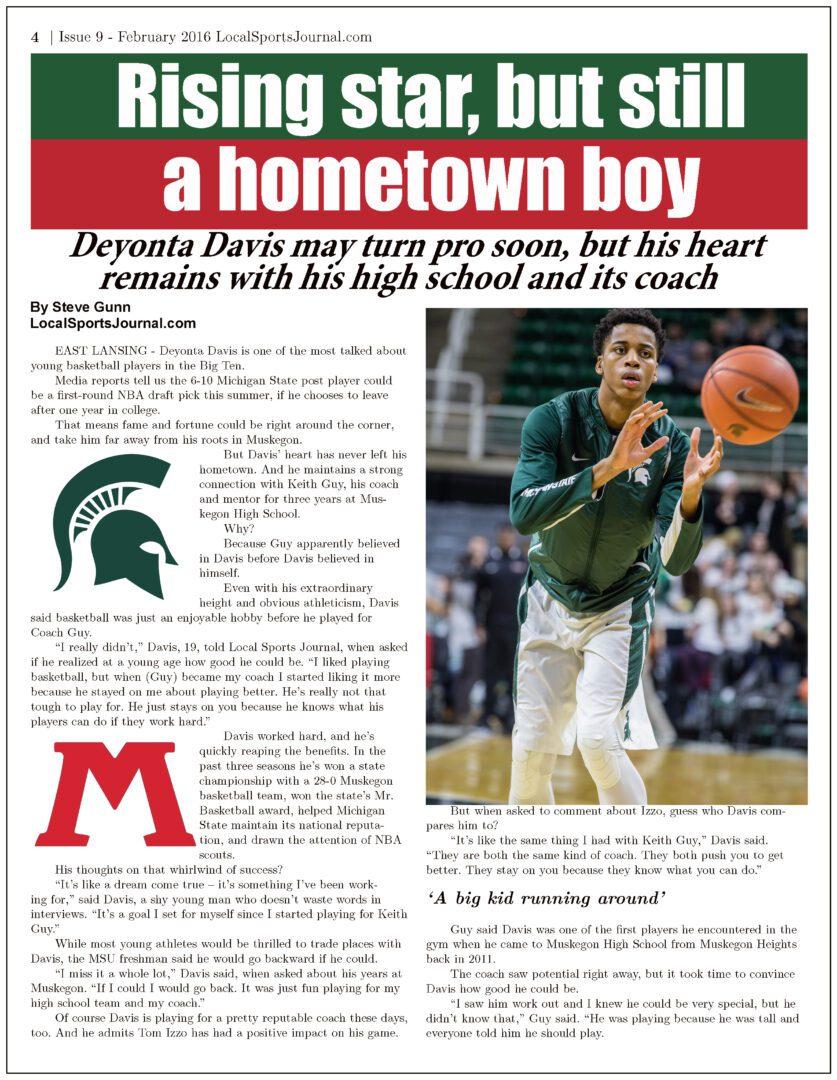 Davis story page 1