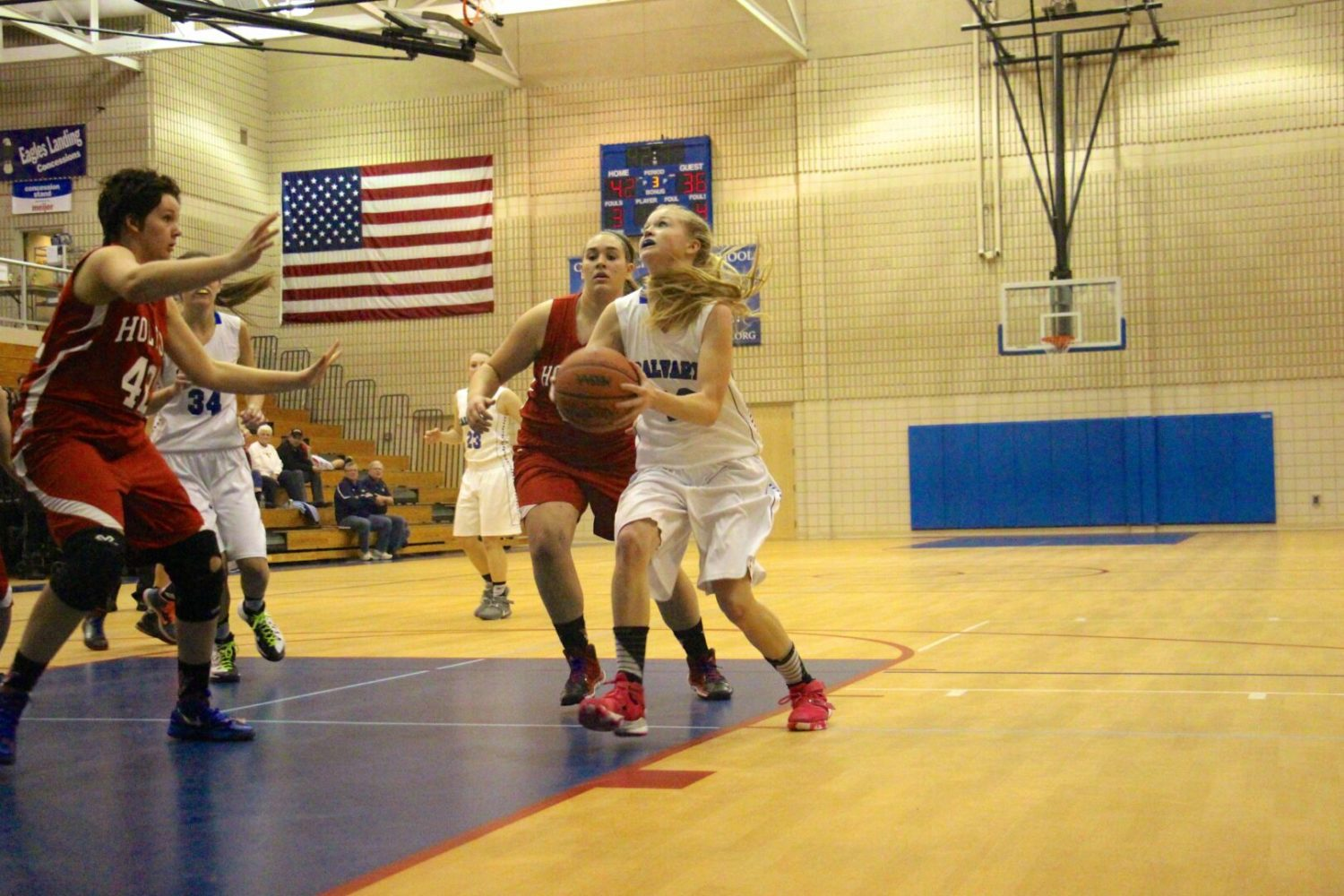 Fruitport Calvary girls improve to 13-2 with an impressive 56-49 victory over Holton