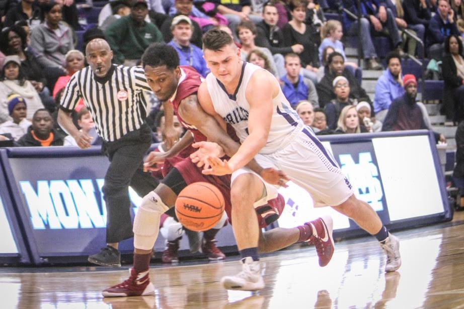 Tyler Trovinger battles for the loose ball. Photo/Joe Lane