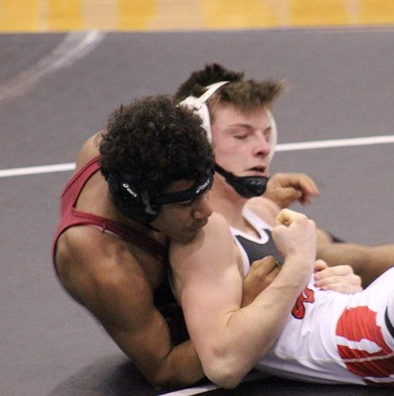 Marcus Murar during the GMAA city wrestling tournament on January 23. Photo/Ronda Morningstar