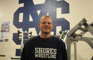Mona Shores' 215-pound wrestler Nick Brown. Photo/Jason Goorman.