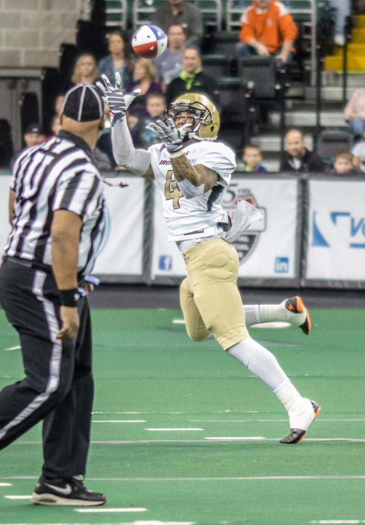 Justin Mott pulls in the catch for West Michigan. Photo/Karl Lund