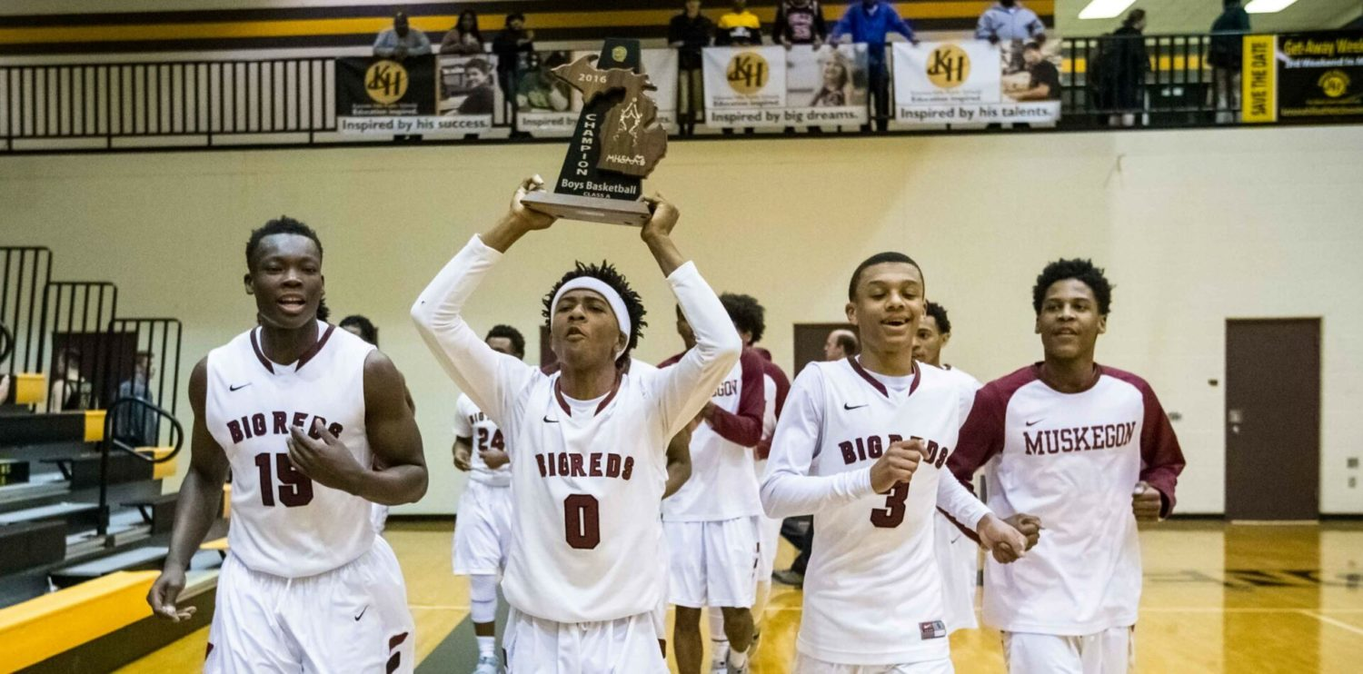 Muskegon boys survive a scare, beat Grand Haven 52-48 in Class A final