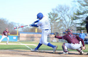 Ryan McClelland gets a hit for MCC in recent action. Photo/Marc Hoeksema