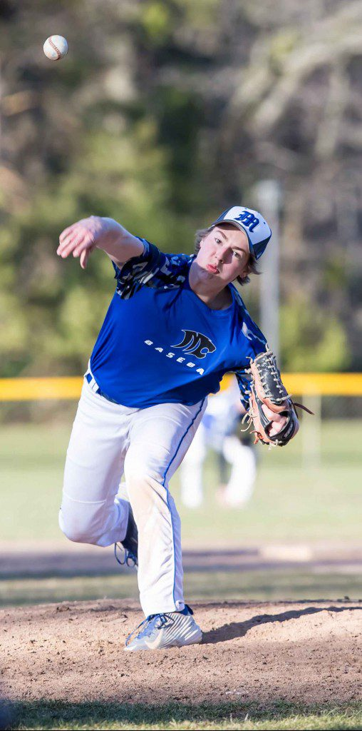 Dylan Stever delivers the pitch for Montague. Photo/Tim Reilly