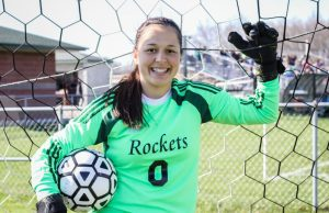 Reeths-Puffer soccer goalie Elysia Mattos. Photo/Joe Lane