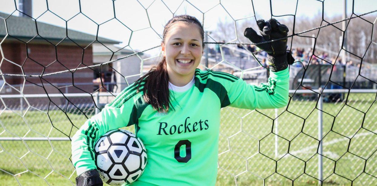 Reeths-Puffer goalie Elysia Mattos may be small, but she has 26 big shutouts