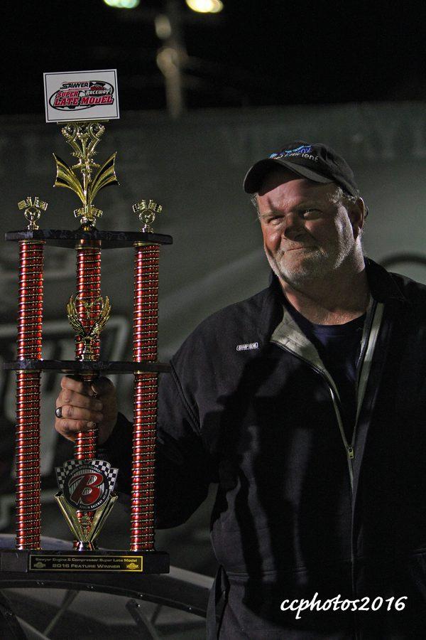 Ross Meuuwsen - Super Lake Models feature race winner. Photo/Carol Cooper