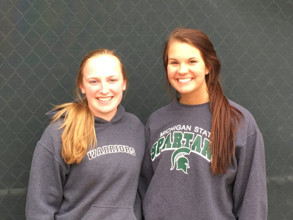 Haylee Moser (left) from WMC and Caroline Price from MCC.